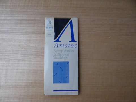 "VINTAGE ""ARISTOC"" 15 DENIER PATTERNED STOCKINGS  SIZE:- ONE SIZE"